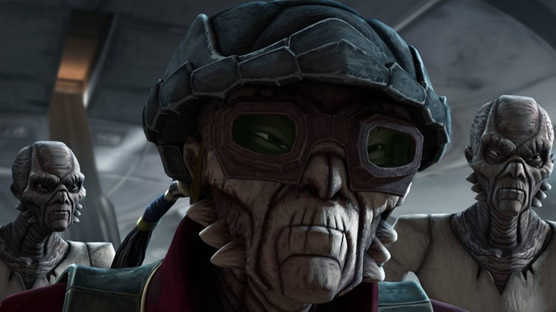 The Weequay make for good bodyguards in the Star Wars universe