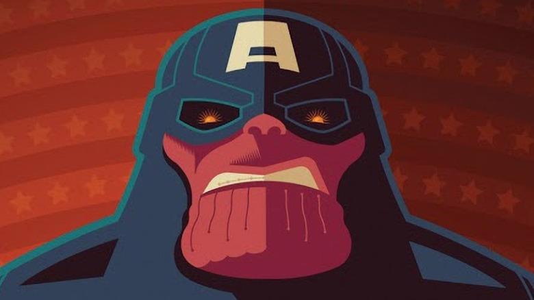 Thanos as Captain America
