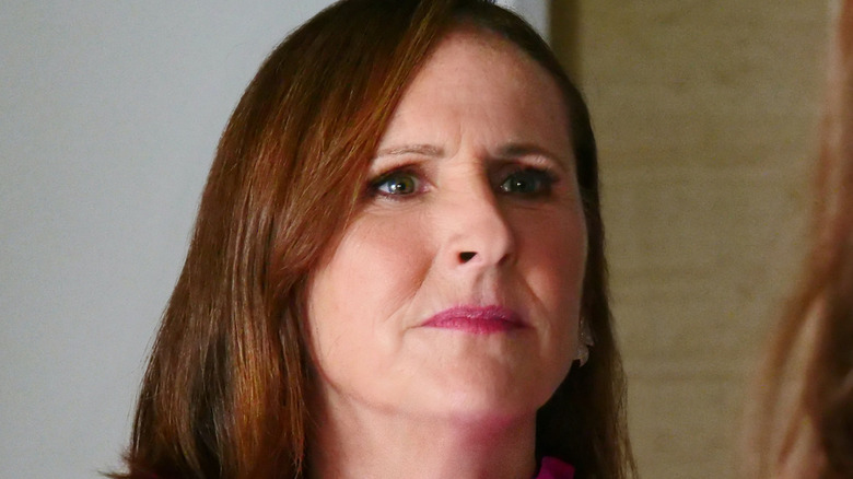 Molly Shannon looking serious