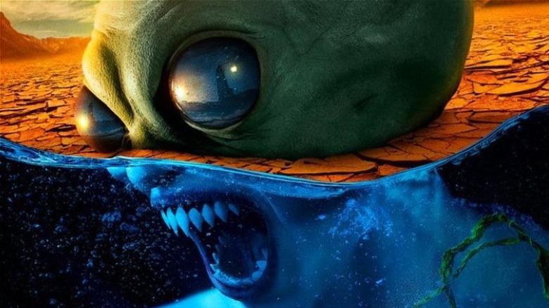 Alien sea creature looks angry
