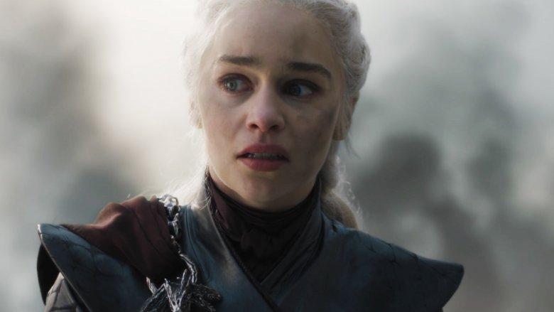 "Emilia Clarke as Daenerys Targaryen on Game of Thrones season 8 episode 5 ""The Bells"""
