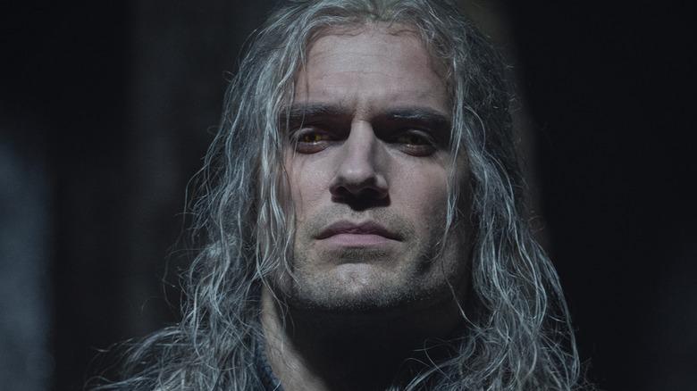 Geralt looking stern