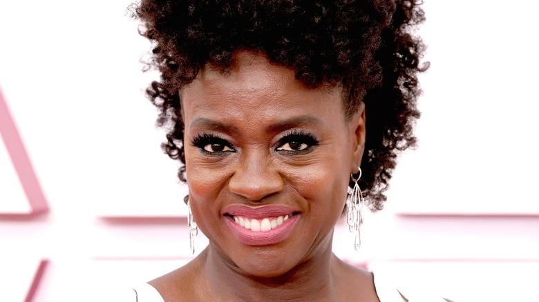 Viola Davis smiling on red carpet