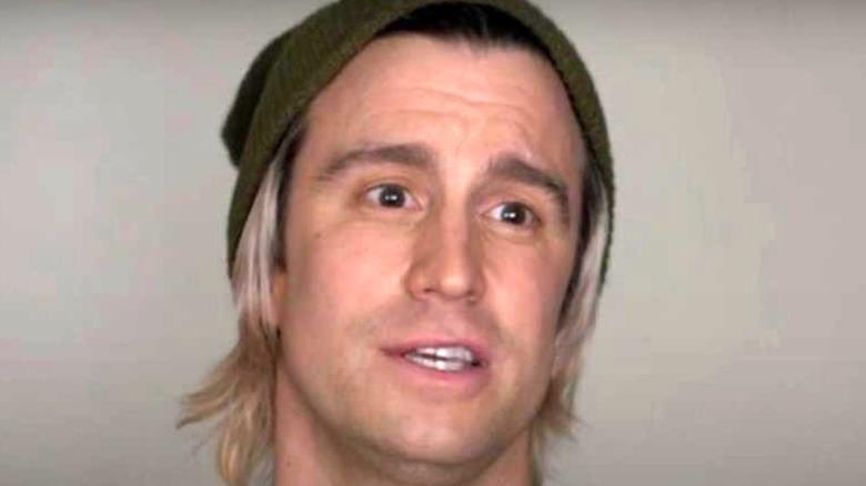Gavin Creel in green knit cap