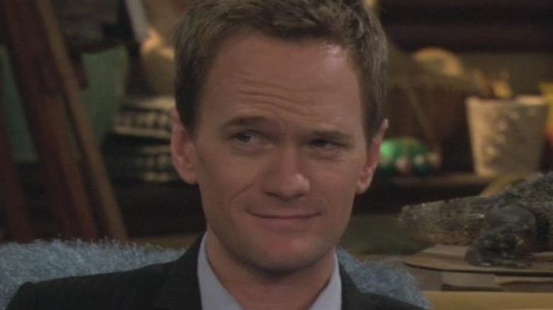 Barney Stinson raises an eyebrow