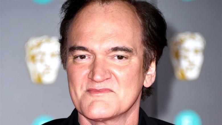 Quentin Tarantino smiling