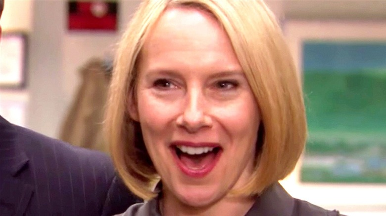 Holly smiles on the Office