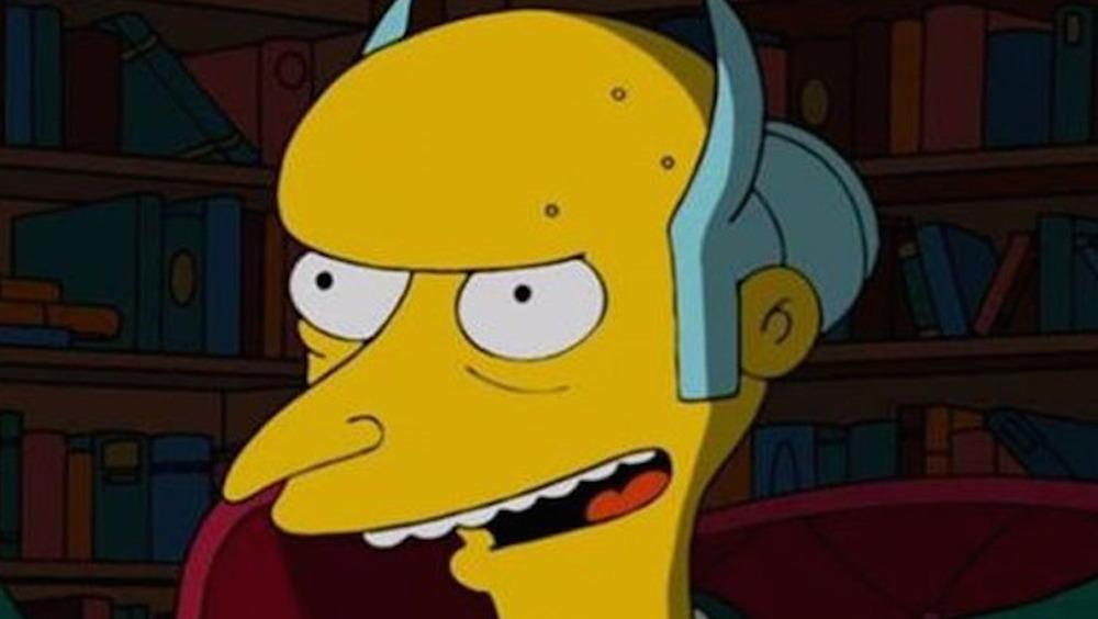 Mr. Burns with devil horns