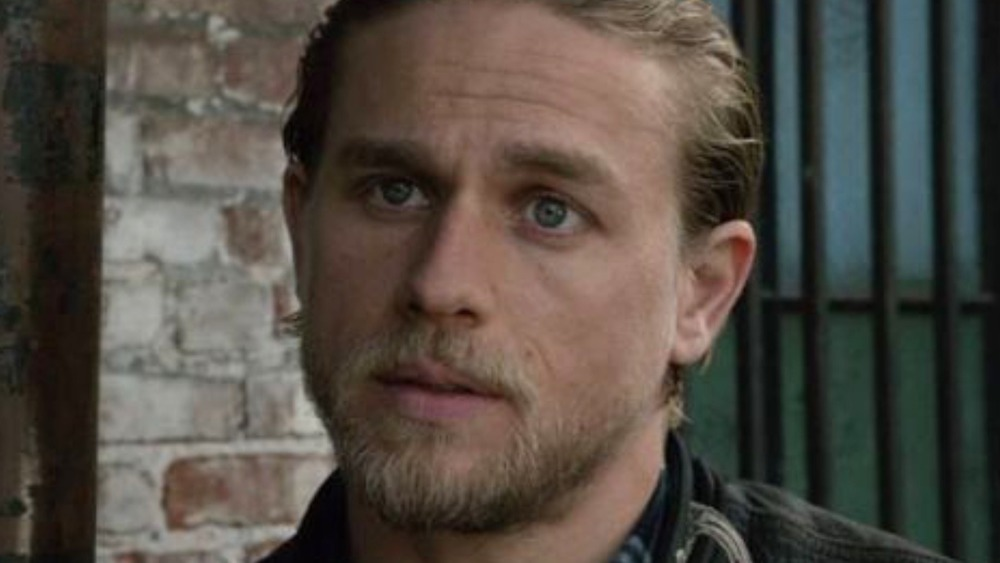 Jax Teller in front of brick wall on Sons of Anarchy