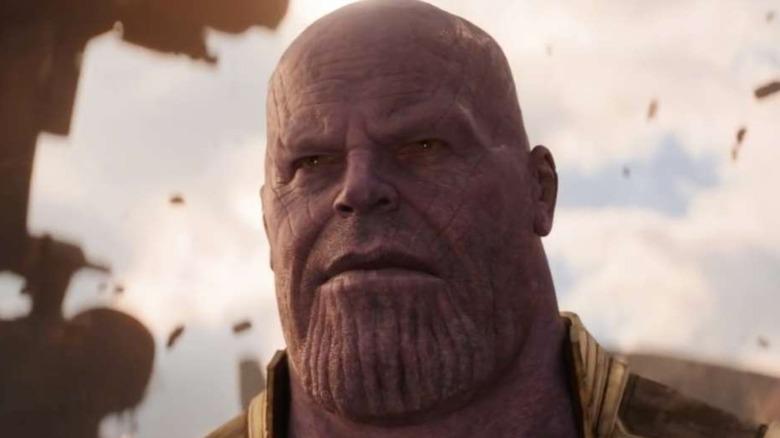 Thanos looking pensieve