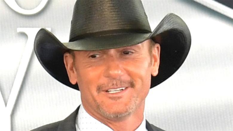 Tim McGraw wearing a cowboy hat