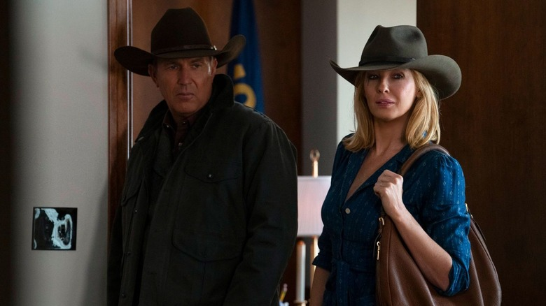 Kevin Costner and Kelly Reilly as John and Beth Dutton on Yellowstone