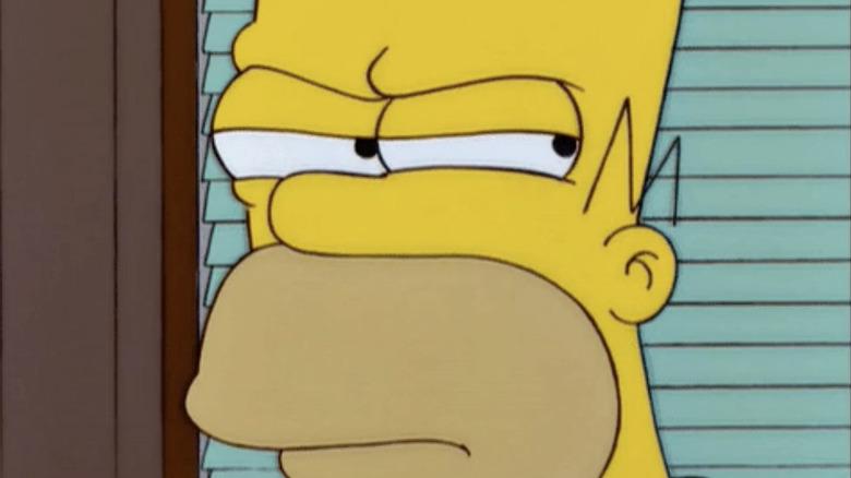 Shifty-eyed Homer Simpson