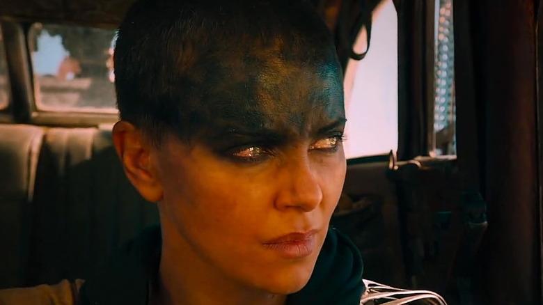 Furiosa prepares to make her escape in Mad Max: Fury Road
