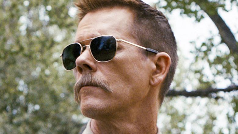 Kevin Bacon mustache sunglasses