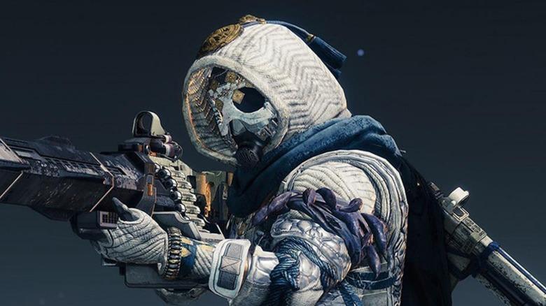 Destiny 2 Guardian with machine gun