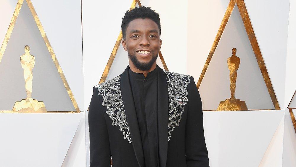 Actor Chadwick Boseman at the Oscars