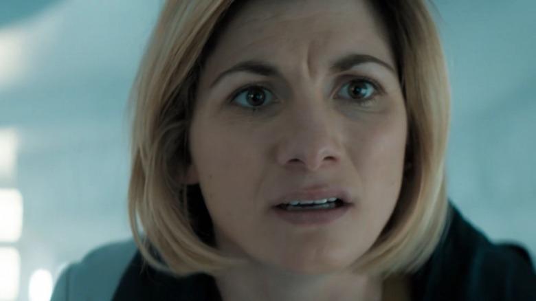 The Doctor looking worried