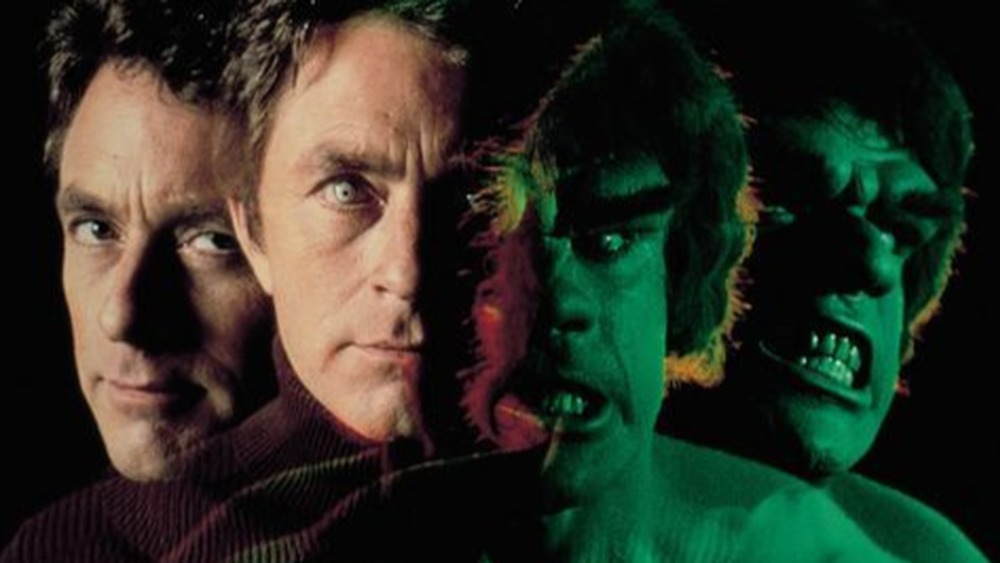 Bill Bixby as David Banner and Lou Ferrigno as The Hulk on The Incredible Hulk
