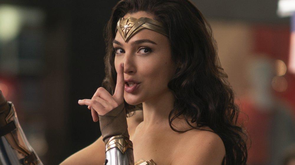 Gal Gadot as Diana Prince sushing in Wonder Woman 1984