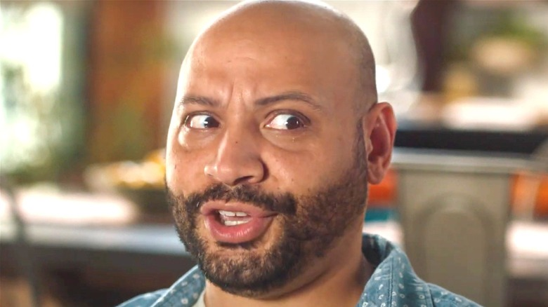 Colton Dunn looking to the side