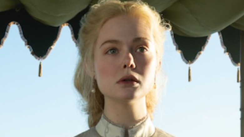 "Elle Fanning in ""The Great,"" under war tent"
