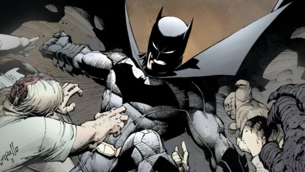 Batman defends himself against his charging rogues gallery on the cover of Batman vol. 2 #1. Art by Greg Capullo.