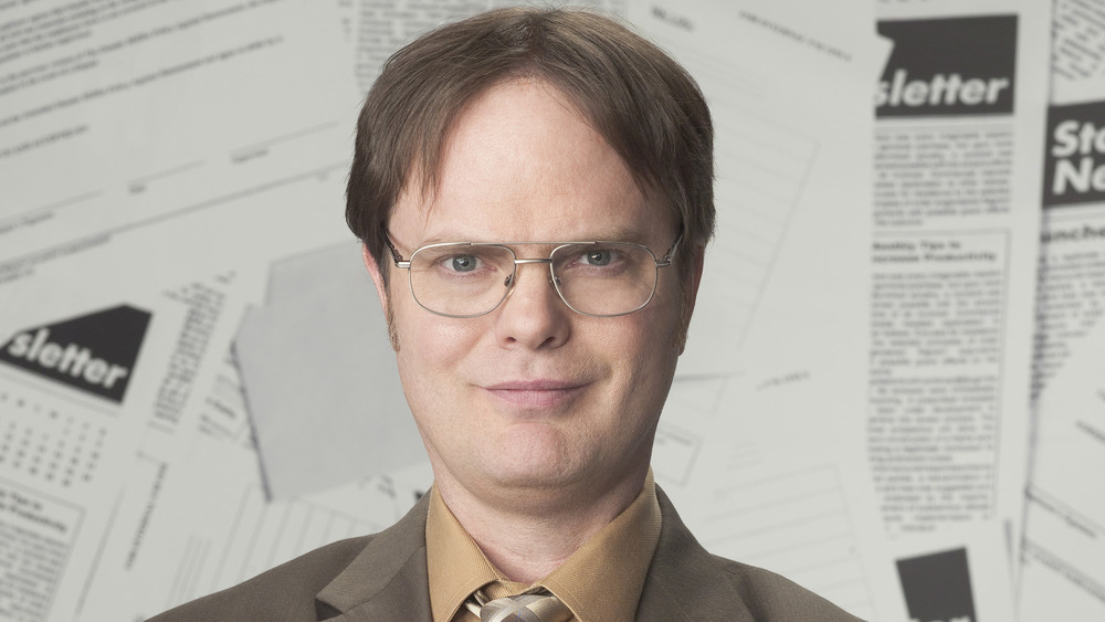 Dwight Schrute smiling