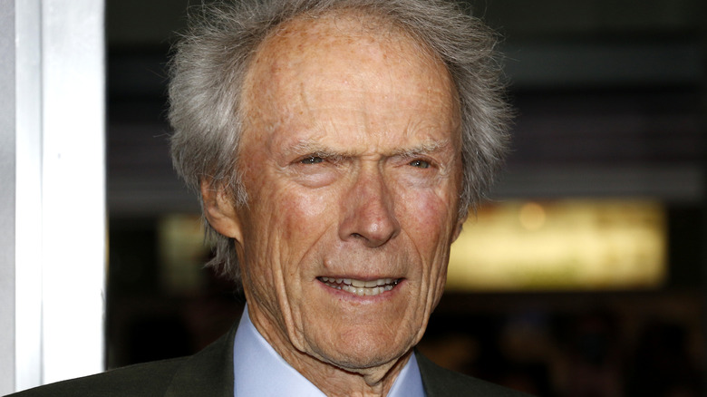 Clint Eastwood squinting ahead