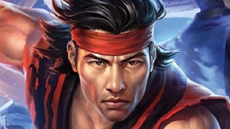 Liu Kang wearing red headband