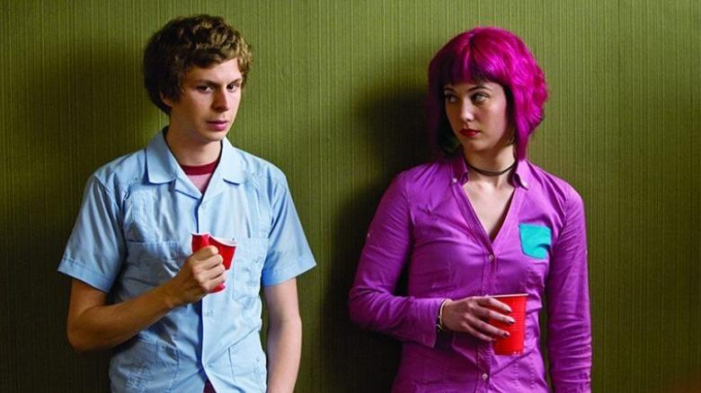 Scott Pilgrim and Ramona Flowers talk haltingly