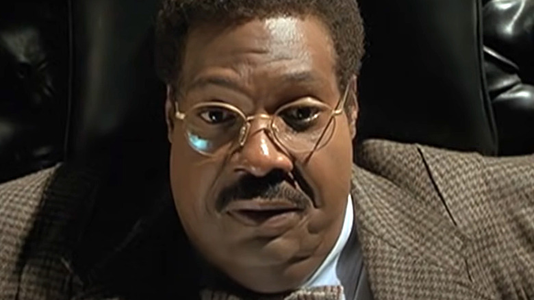 Sherman Klump on couch