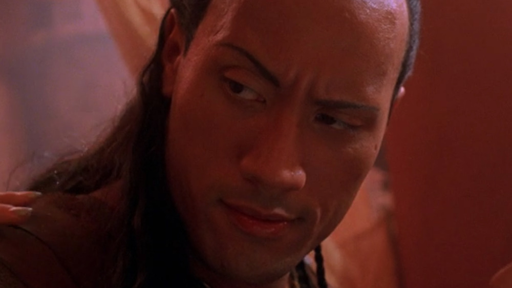 The Rock as Mathayus in The Scorpion King