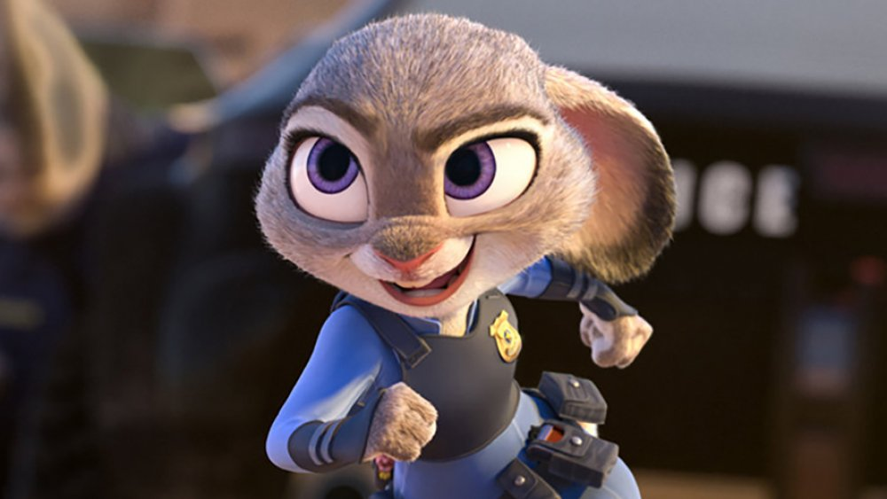 Judy Hopps in pursuit, from Zootopia