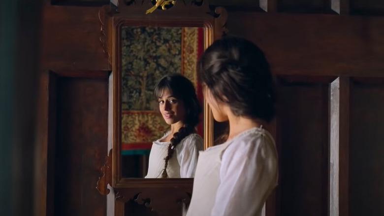 Ella smiling in mirror