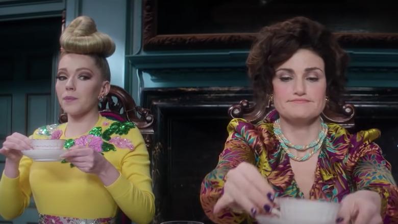 Vivian and Drizella drink tea