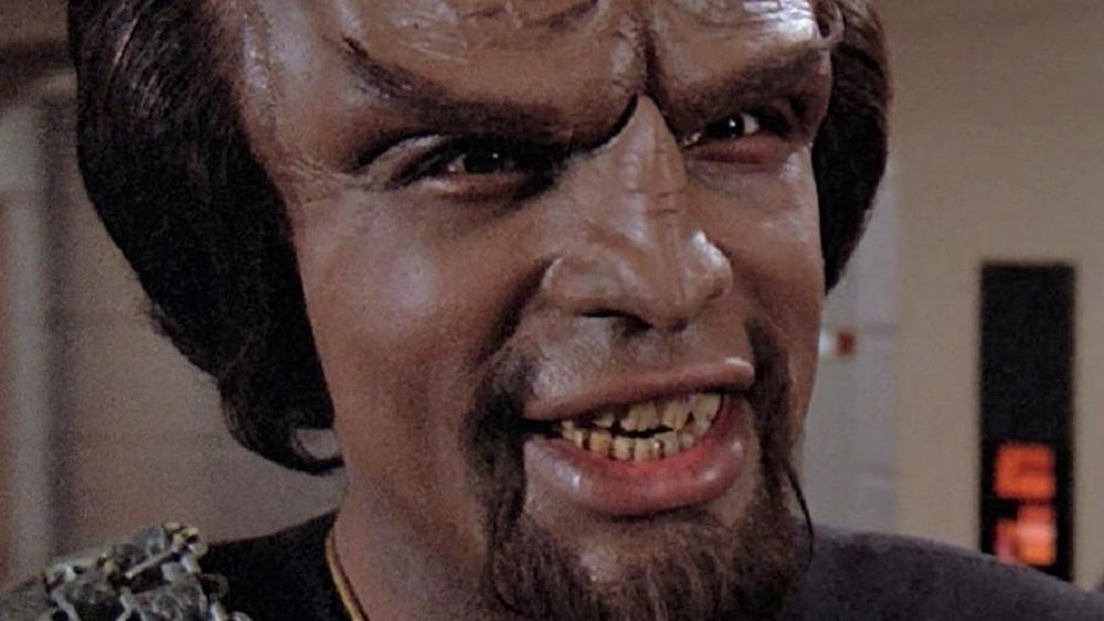 Worf smiling