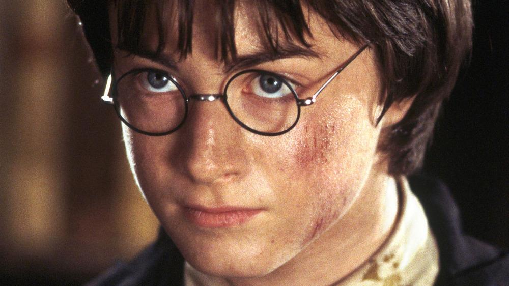 Harry Potter glaring