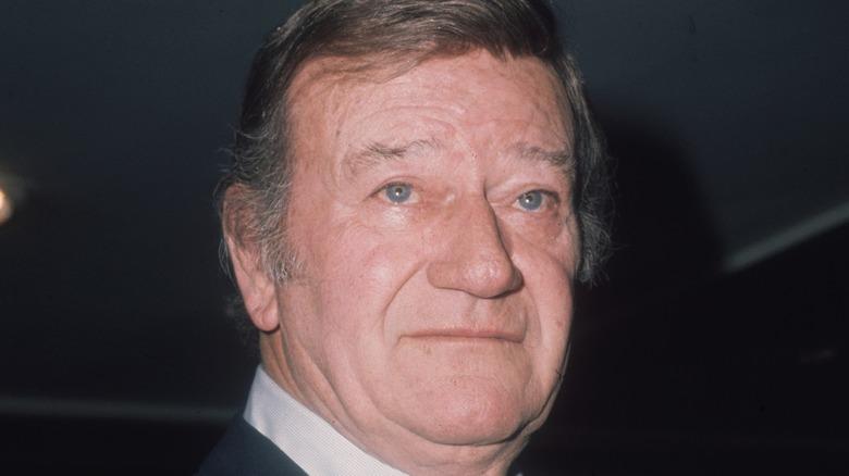 John Wayne looks up