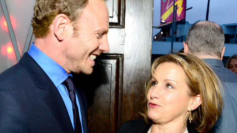 Ian Ziering and Gabrielle Carteris share a laugh