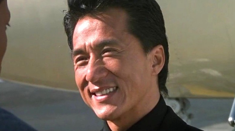 A close-up of Jackie Chan