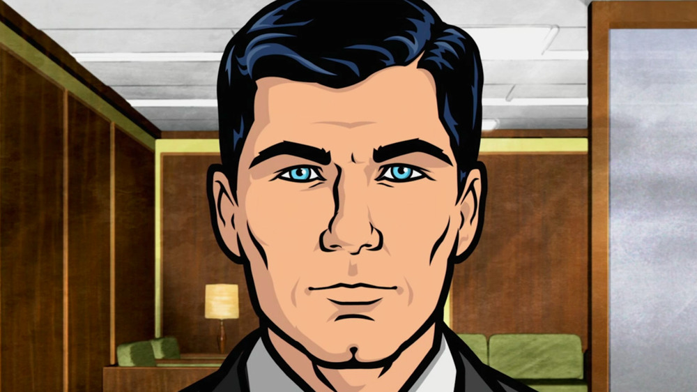 Sterling Archer staring straight ahead