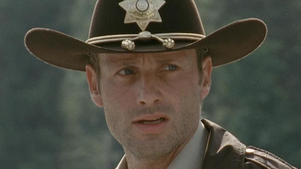 Rick Grimes wearing hat