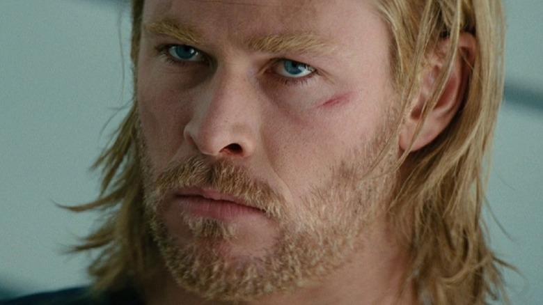 Thor glaring