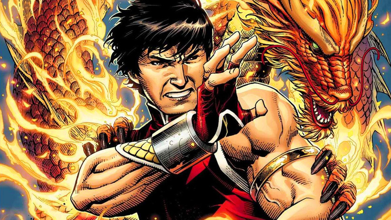 Shang-Chi with fiery dragon