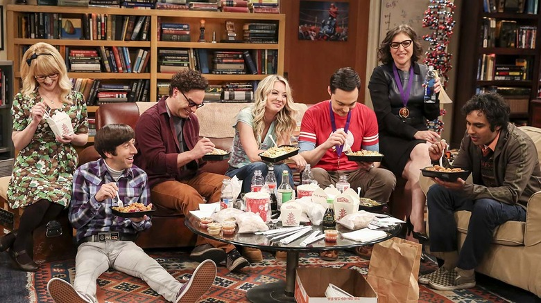The cast of The Big Bang Theory in the final scene