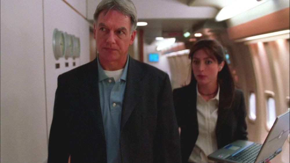 Mark Harmon and Sasha Alexander on NCIS
