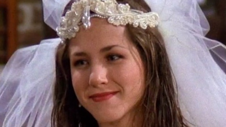 Rachel Greene with wedding veil