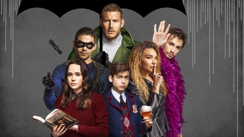The cast of The Umbrella Academy in a season 1 promo photo