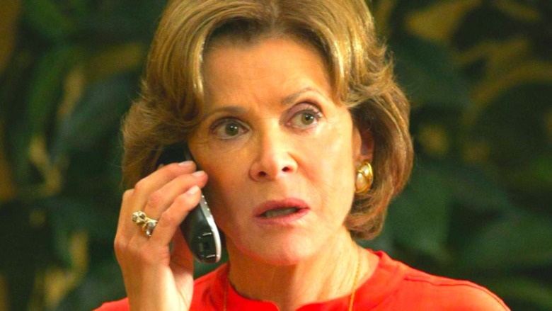 Lucille Bluth on phone